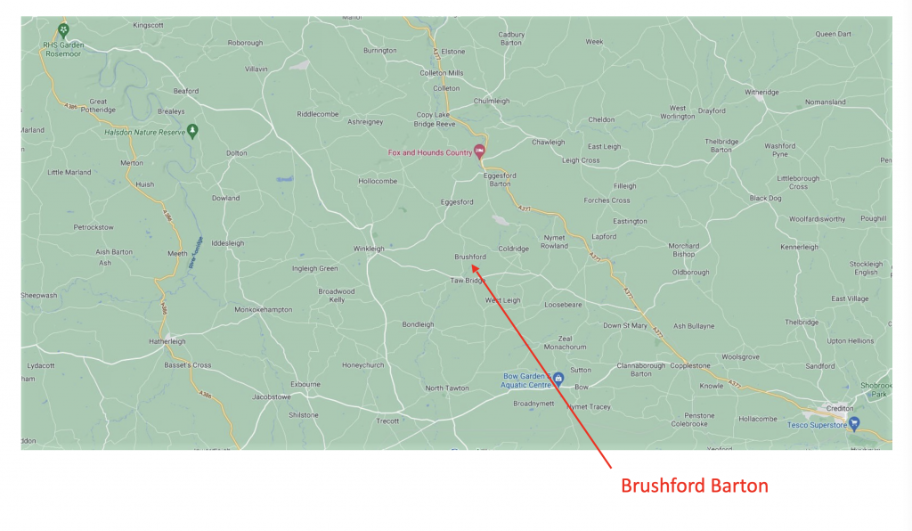 How to get to Brushford Barton
